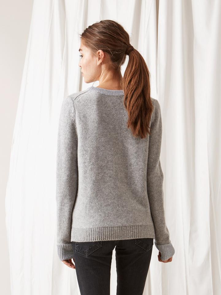 Soft Goat Inside Out Stitch Sweater Grey/lurex