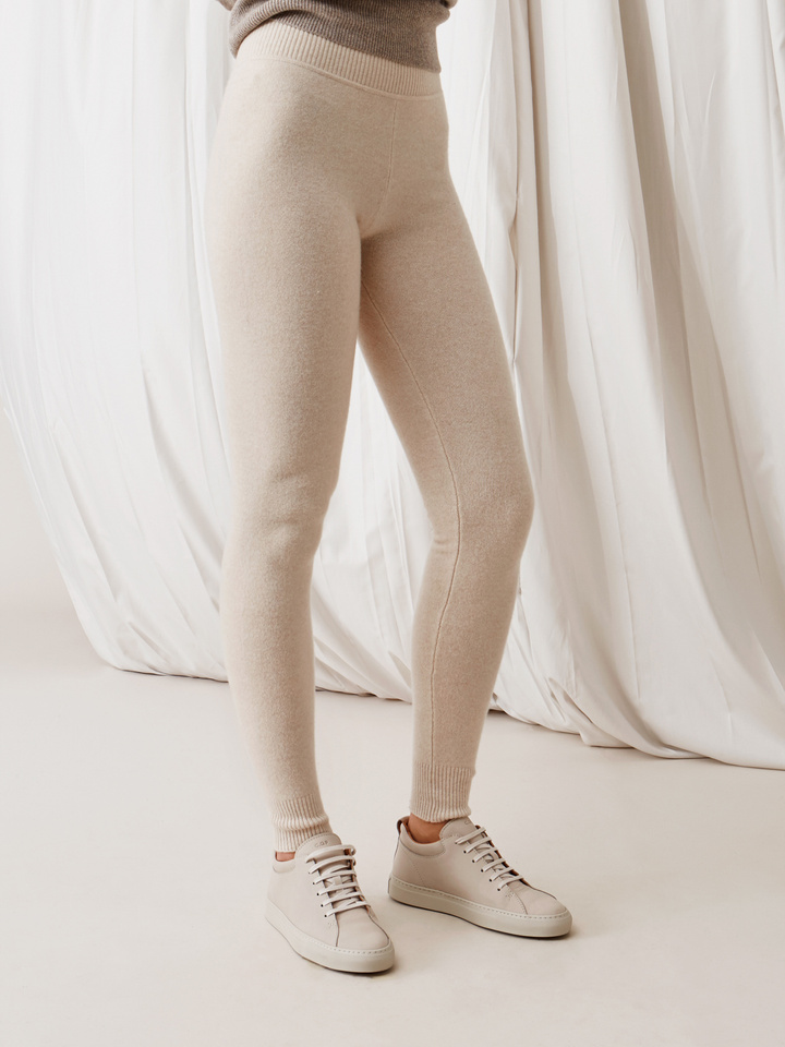 Soft Goat Leggings Beige