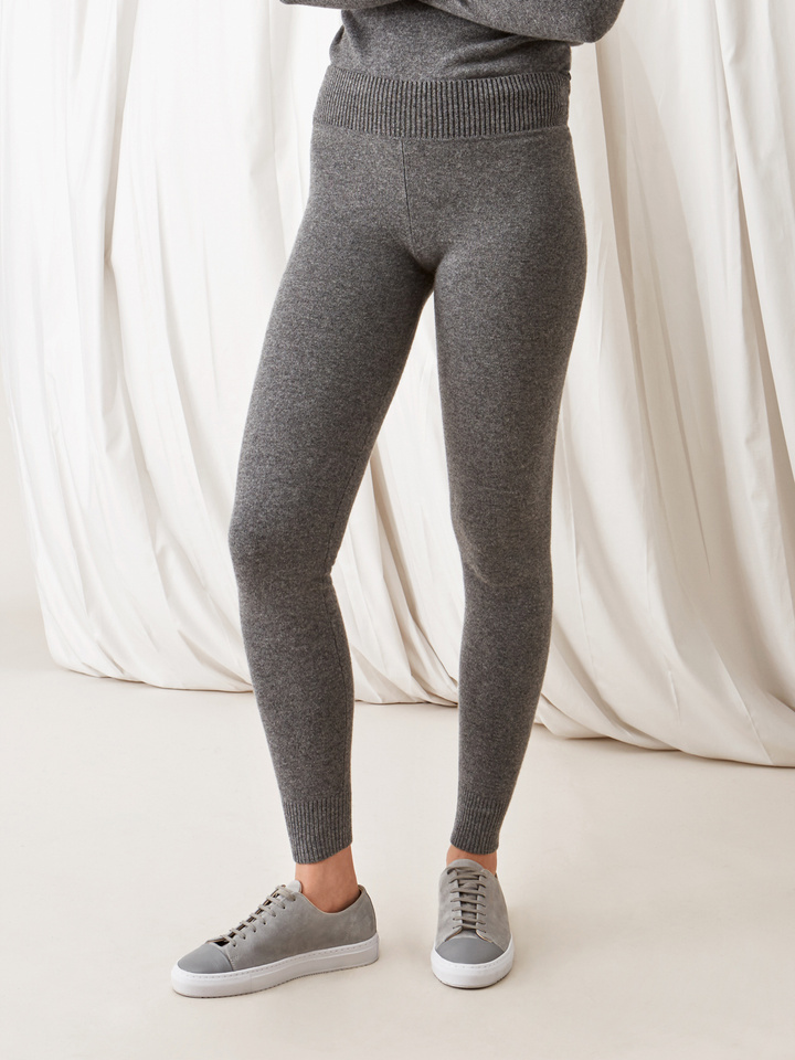 Soft Goat Leggings Dark Grey