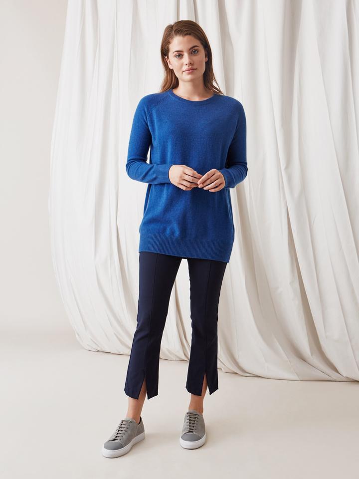 Soft Goat O-Neck Oversize Royal Blue