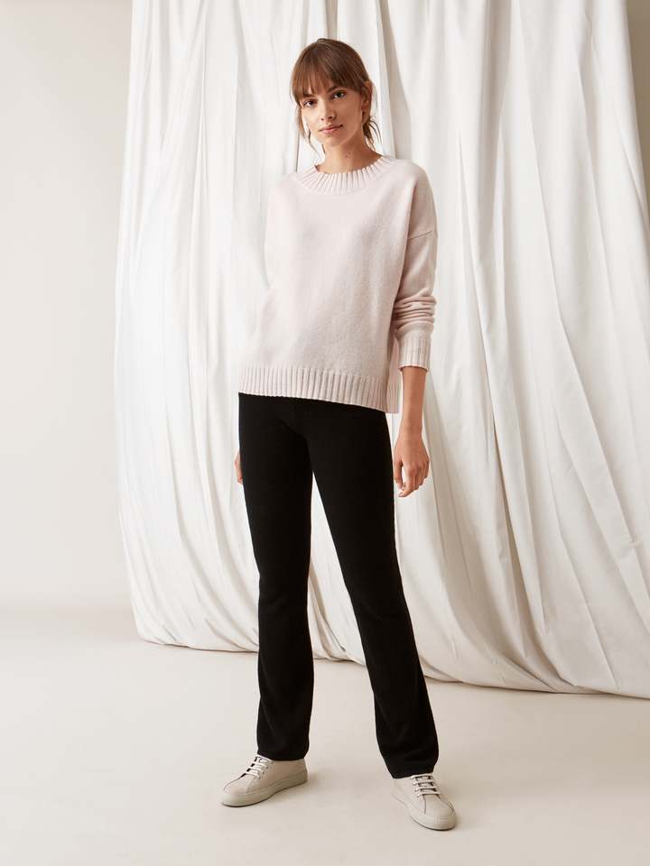Soft Goat Relaxed Sweater Powder Pink