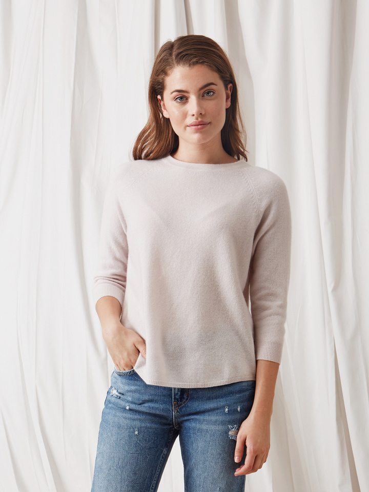 Soft Goat Rounded Sweater Marshmallow