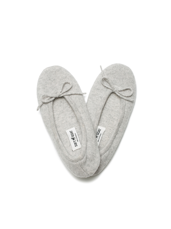 Soft Goat Women's Slippers Light Grey