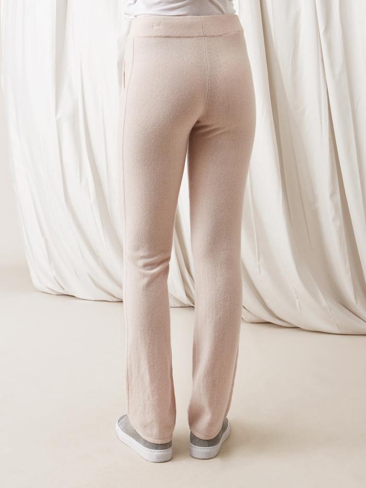 Soft Goat Straight Pants Powder Pink