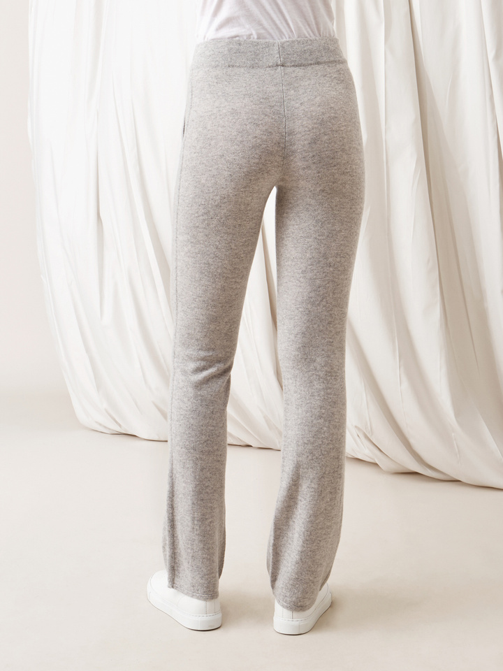 Soft Goat Straight Pants Light Grey