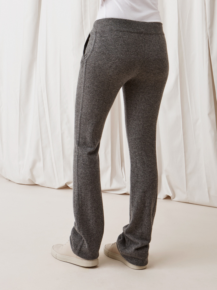 Soft Goat Straight Pants Dark Grey