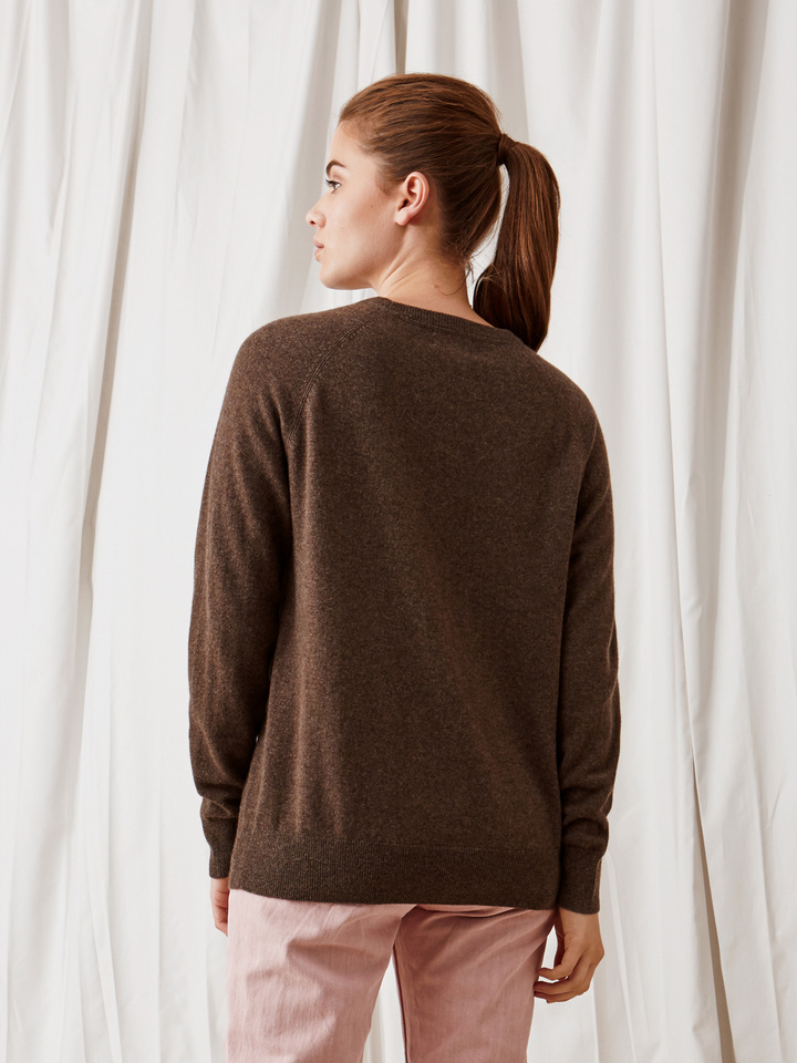 Soft Goat Loose Fit Sweater Mocca