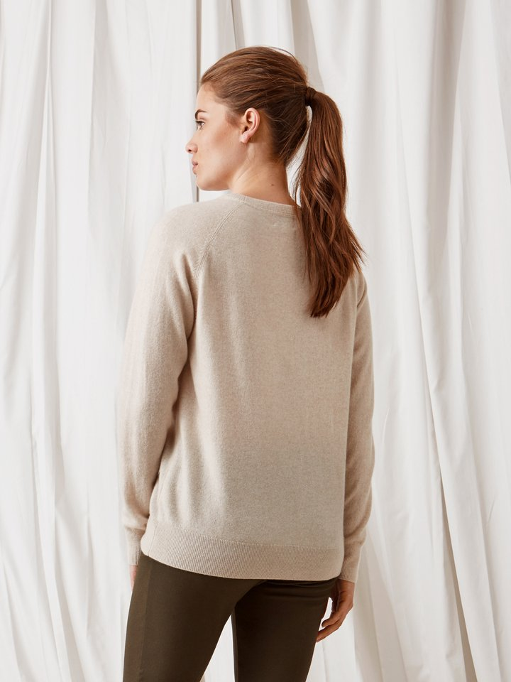 Soft Goat Loose Fit Sweater Beige