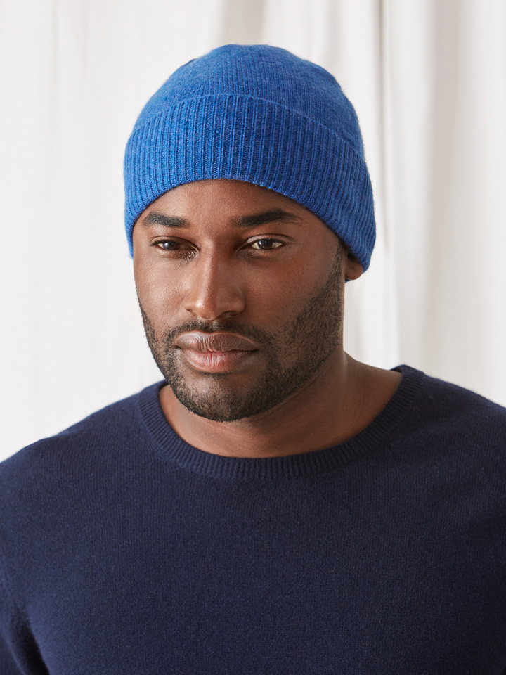 Soft Goat Cashmere Beanie Royal Blue