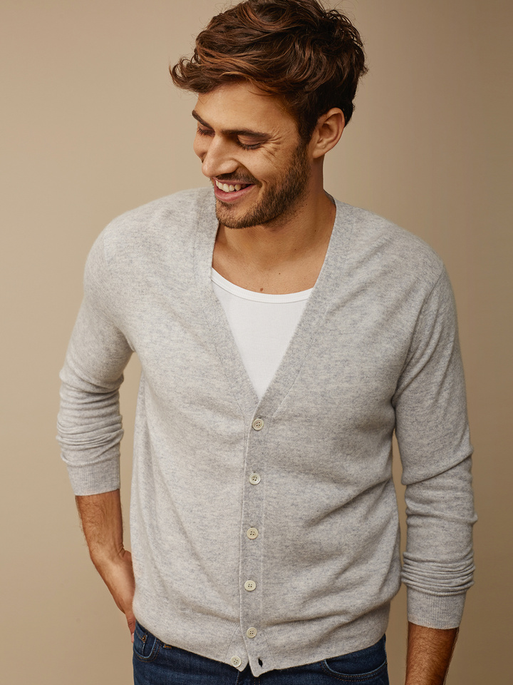 Thumbnail Men's Fine knit cardigan