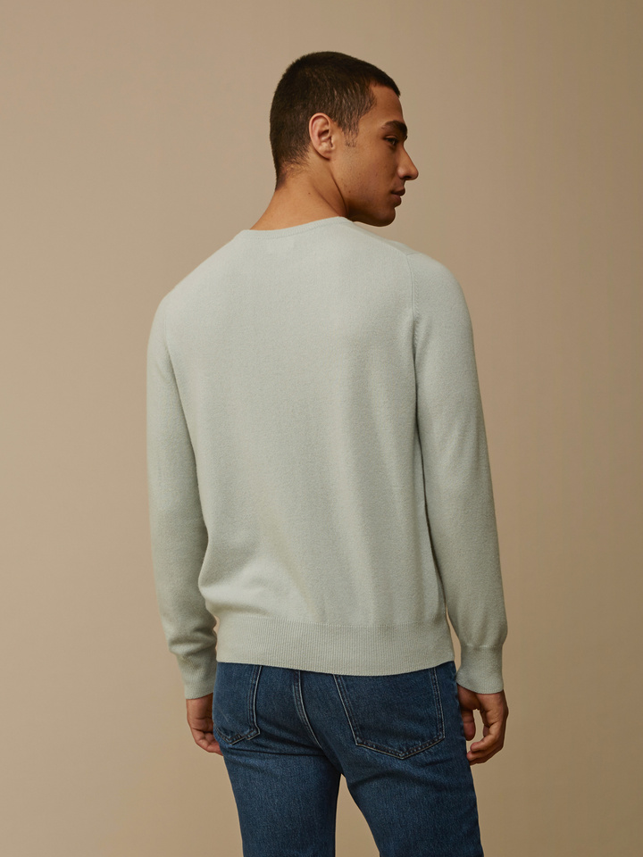Soft Goat Men's O-Neck Seasalt