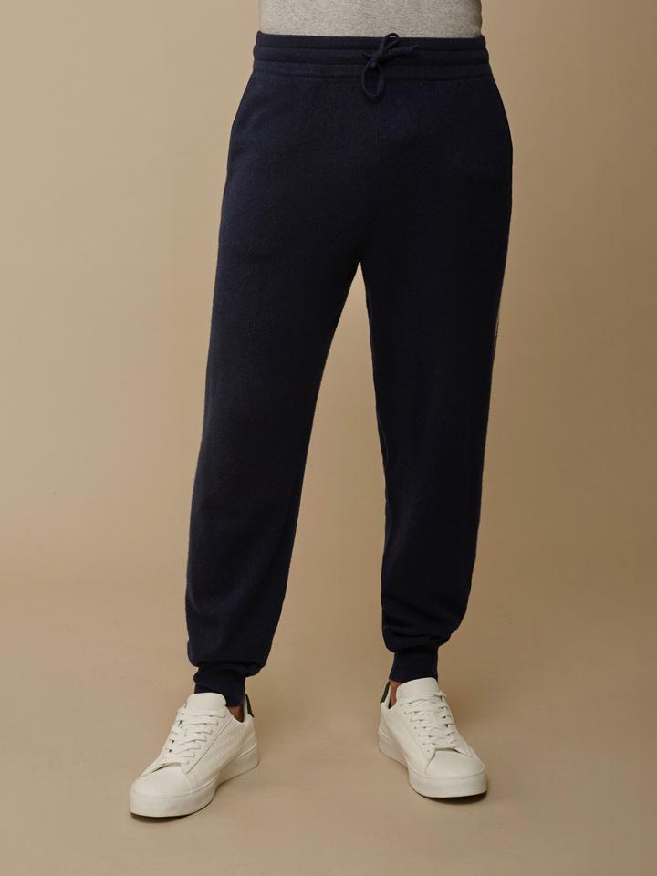 Soft Goat Men's Striped Pants Navy/off White
