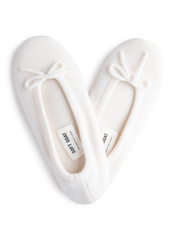 Soft Goat Slippers Off White