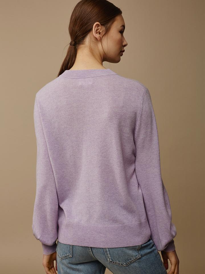 Soft Goat Women's Balloon Arm Sweater Light Lavender