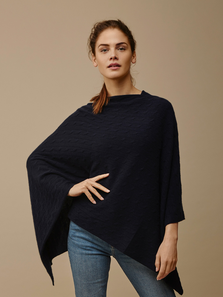 Thumbnail Women's Cable Knit Poncho