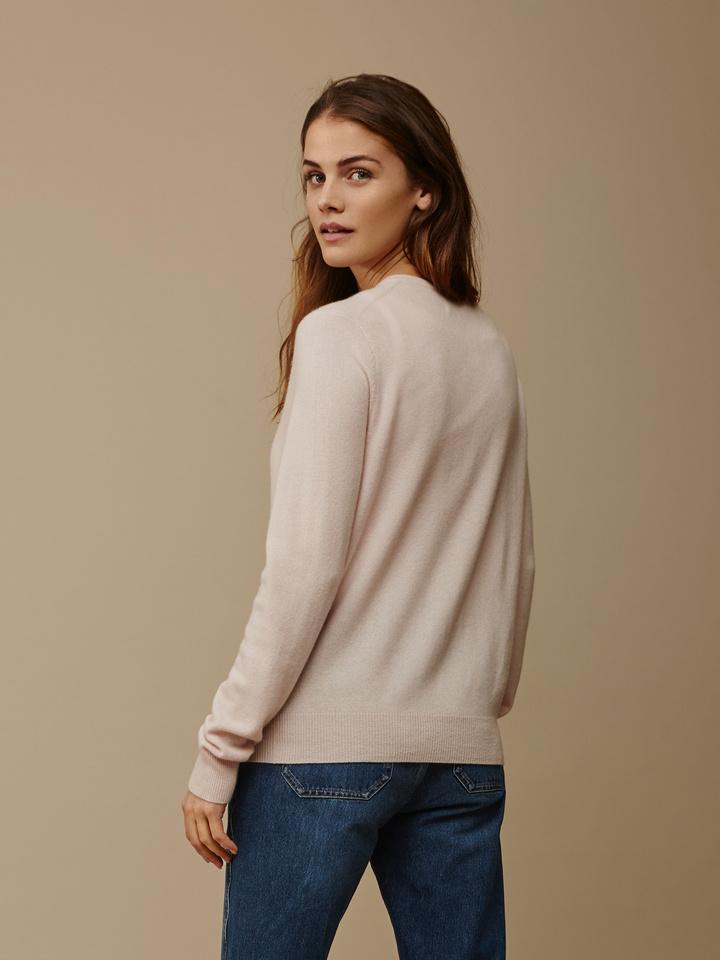 Soft Goat Women's Classic Cardigan Powder Pink