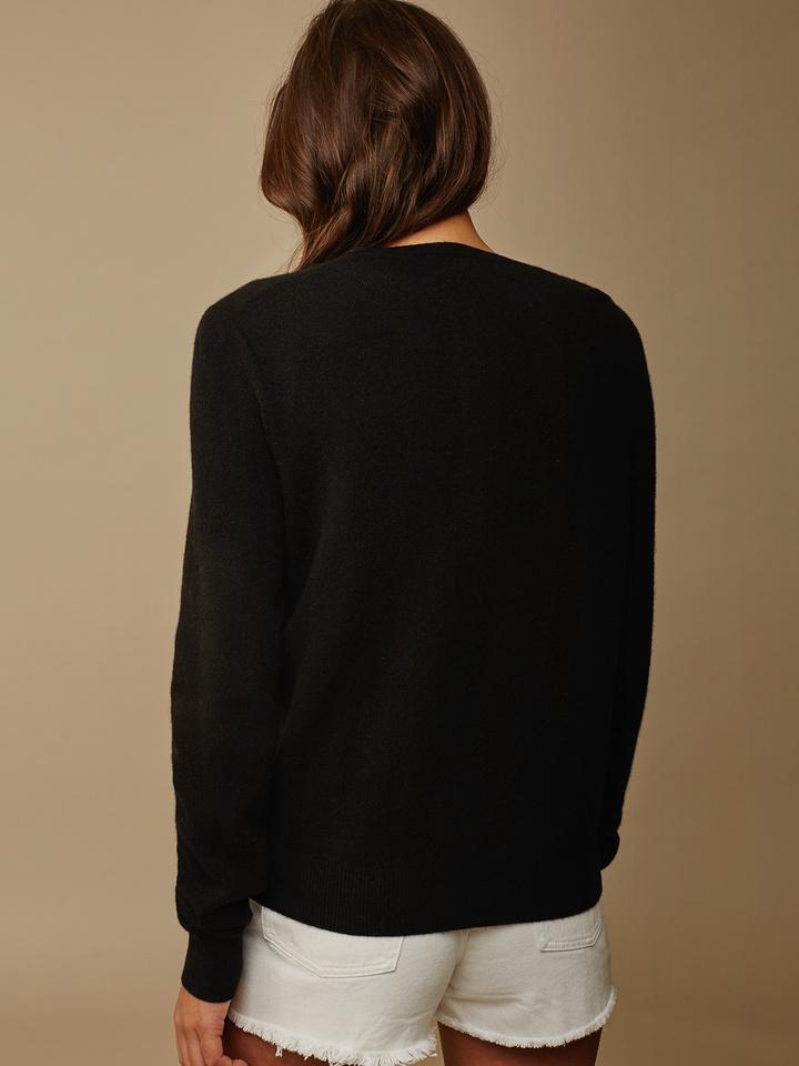 Soft Goat Women's Classic Cardigan Black