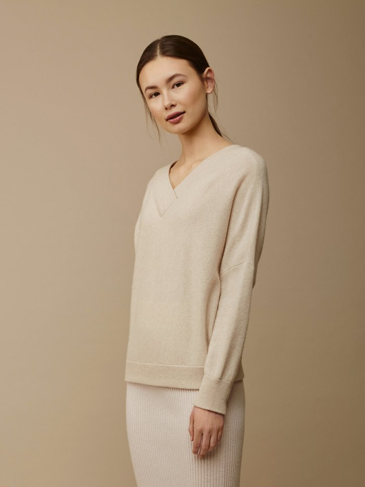 Thumbnail Women's Double V-Neck Sweater