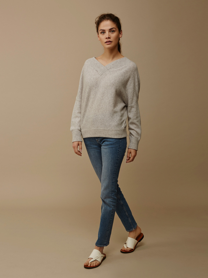 Thumbnail Double V-Neck Sweater