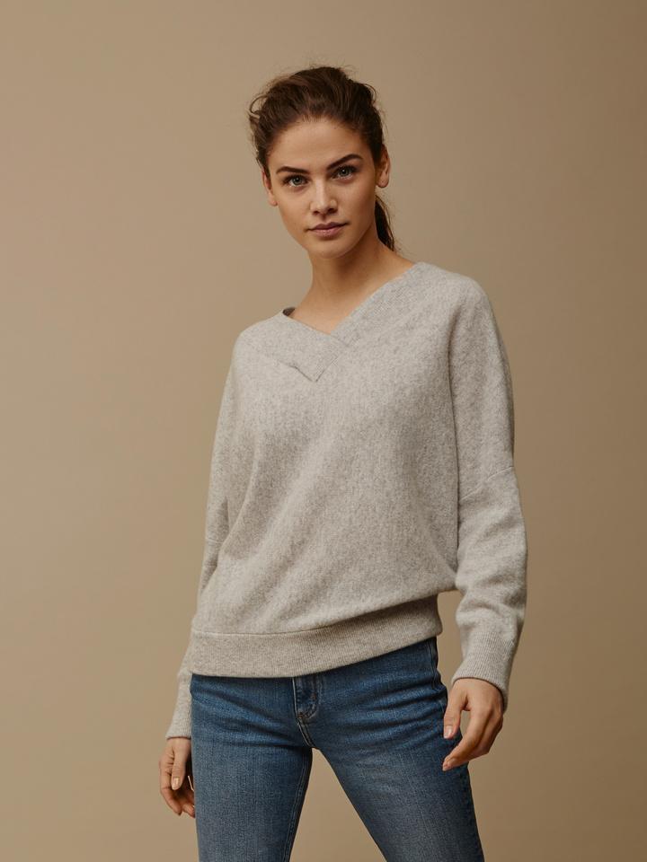 Thumbnail Women's Double V-Neck Sweater